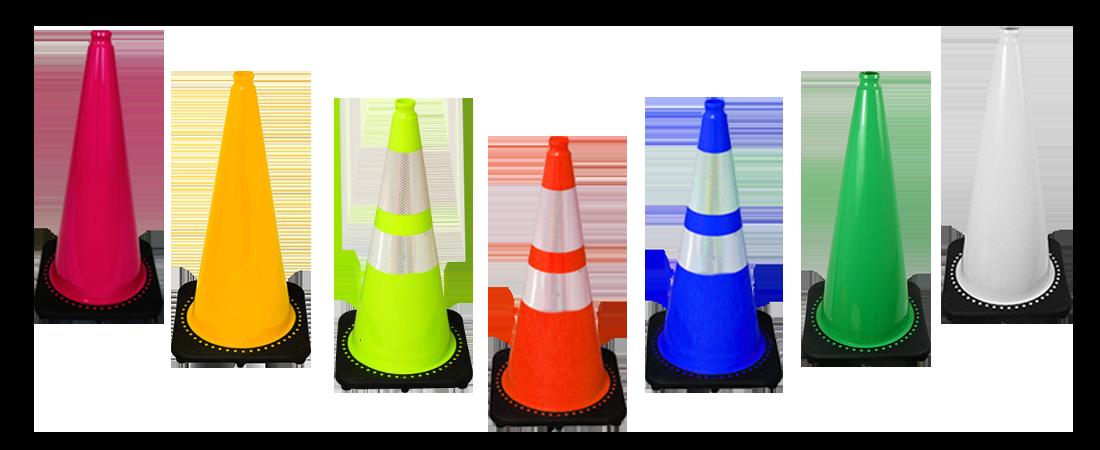 28 inch Black Base Cones